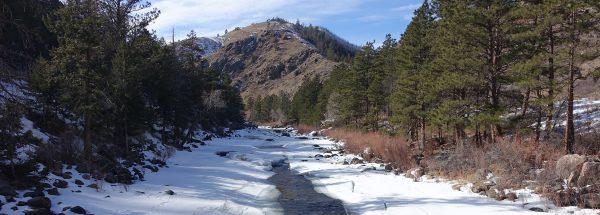 Frozen Poudre River Colorado Happier Place