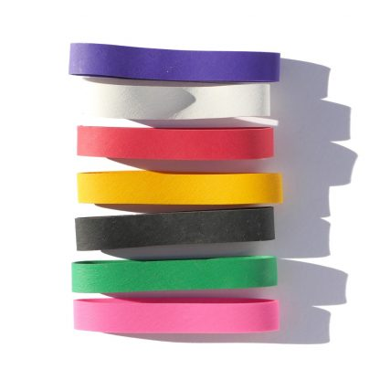 Choice of colorful rubber bands for the Happier Place Notebook Collection