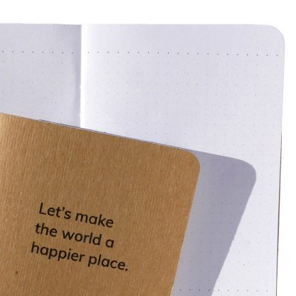 Happier World Notebook features dot grid pages - H015-NOT-LM-NAT-DT
