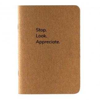 Stop Look Appreciate Notebook - Happier Place - H015-NOT-ST-NAT-BL