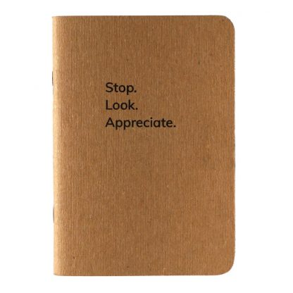Stop Look Appreciate Notebook - Happier Place - H015-NOT-ST-NAT-BL