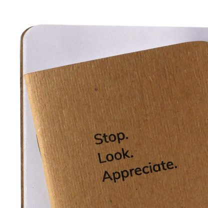 Stop Look Appreciate Notebook features blank pages - Happier Place - H015-NOT-ST-NAT-BL