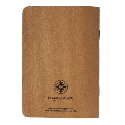 Happier Place pocket notebook back