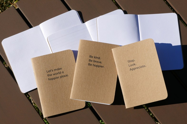 Happier Place Pocket Notebooks: Be Kind + Gratitude Moment + Happier World