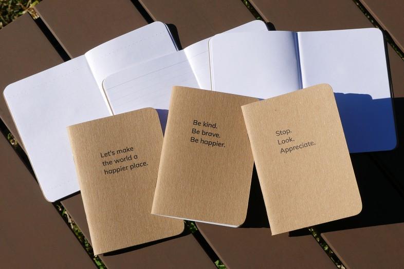 Happier Place Pocket Notebooks: Be Kind + Gratitude Moment + Happier World