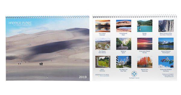 Happier Place 2019 Nature Photography Calendar - 12-month wall calendar