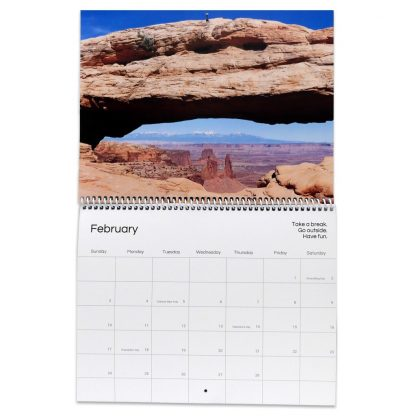 Mesa Arch in Canyonlands on February page in 2019 Nature Photography Calendar - Happier Place