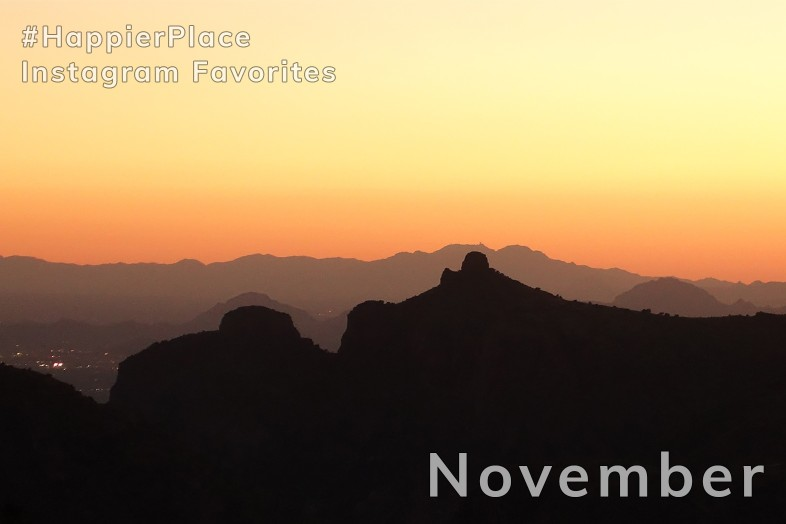 Mountain desert sunset Tucson Arizona for #HappierPlace Instagram Favorites November 2018