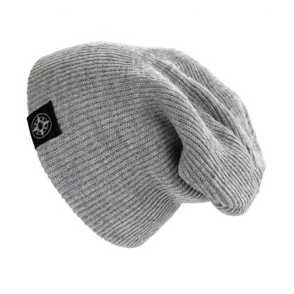 Happier Place Slouchy Beanie - light grey - H016-HAT-GYL