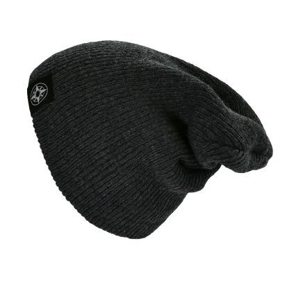 Happier Place Slouchy Beanie - charcoal - H016-HAT-CHA