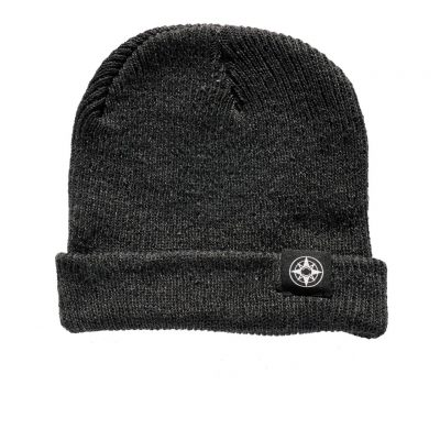 Happier Place Slouchy Beanie - charcoal - cuffed