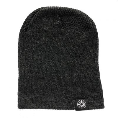 Happier Place Slouchy Beanie - charcoal grey