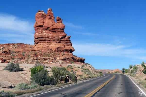 Cycling is popular in Arches National Park and surrounding areas.