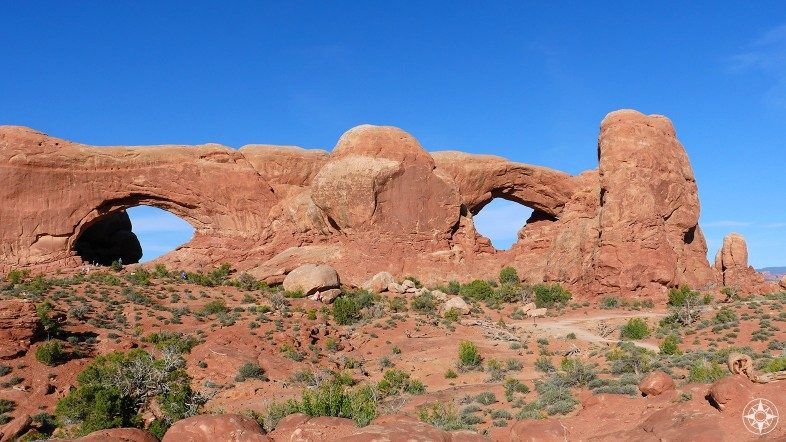 North Window and South Window in the Windows Section of Arches.