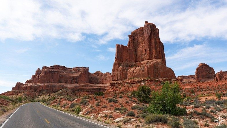 Scenic drive around Arches National Park, Utah.