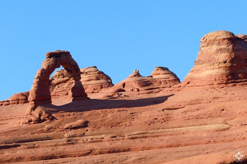 Utah's famous Delicate Arch seen from the Upper Delicate Arch Viewpoint.