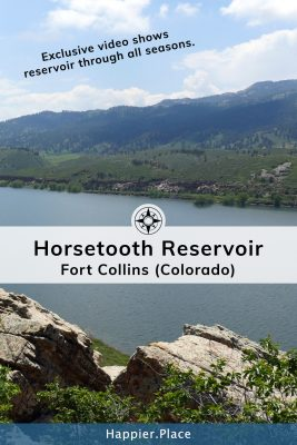 Horsetooth Reservoir in Fort Collins Colorado.