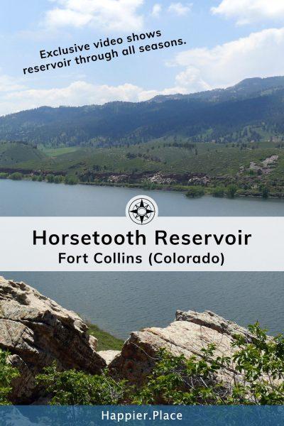 Horsetooth Reservoir in Fort Collins Colorado.