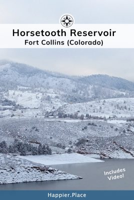 Horsetooth Reservoir in Fort Collins Colorado during the winter. Happier Place