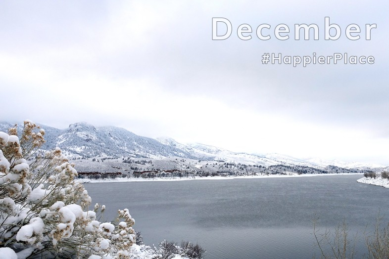 Horsetooth Reservoir covered in snow - Colorado HappierPlace