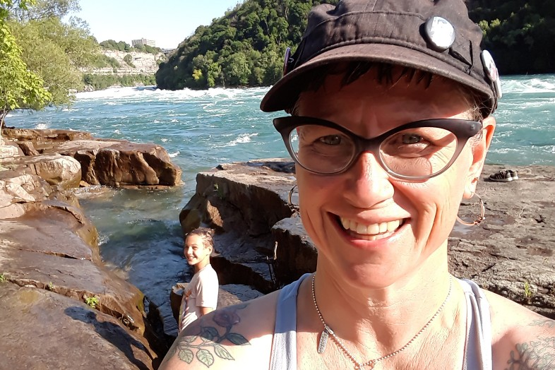 Jessica Mills and daughter at Devil's Hole - Niagara Falls