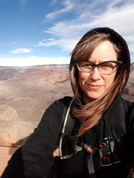 Jessica Mills hiking the Grand Canyon.