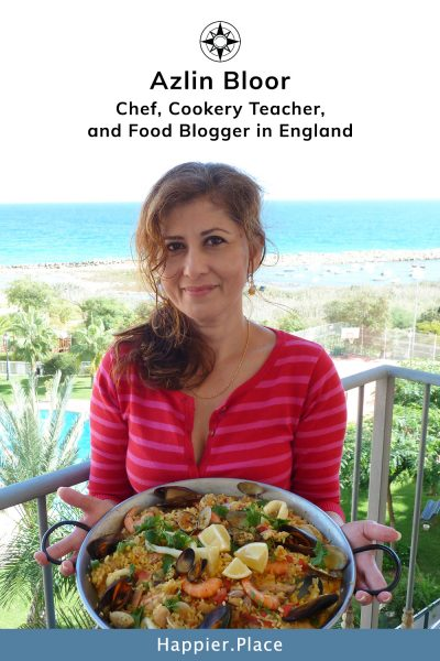 Chef, Cookery Teacher, and Food Blogger Azlin Bloor of LinsFood - Happier Place Profile
