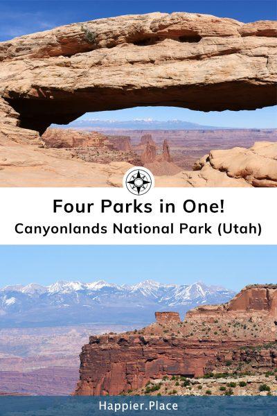 Canyonlands Utah Mesa Arch La Sal Mountains - Happier Place