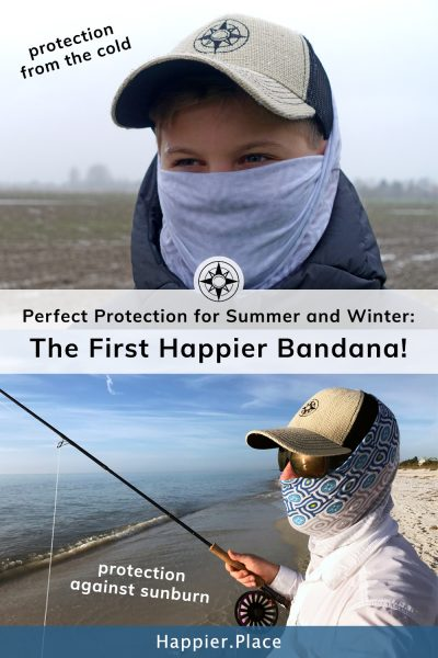 Happier Bandana perfect protection against the cold and sunburn