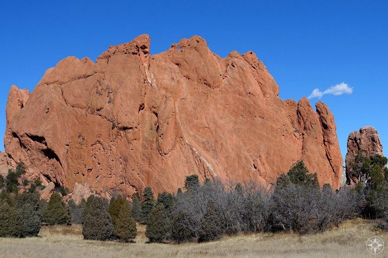 North Gateway Rock and Pulpit Rock in Garden of the Gods, Colorado.