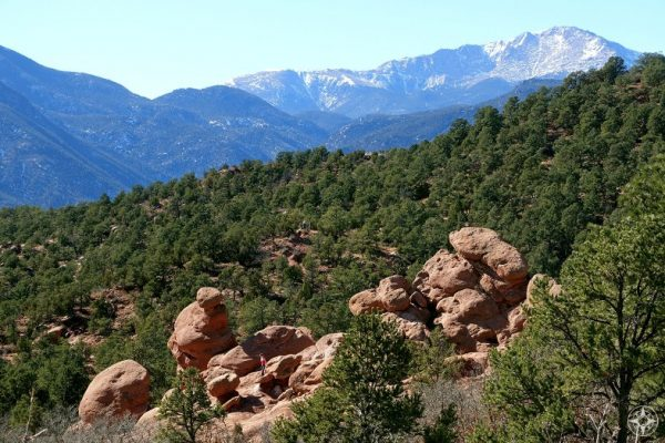 Hikers exploring trails and more off-beat rock formations.
