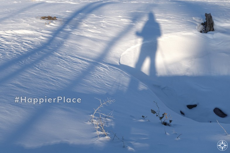 ski silhouette in the snow for #HappierPlace Instagram favorites 2019
