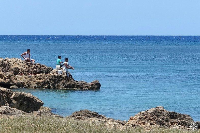 Fishermen in La Boca, Cuba.