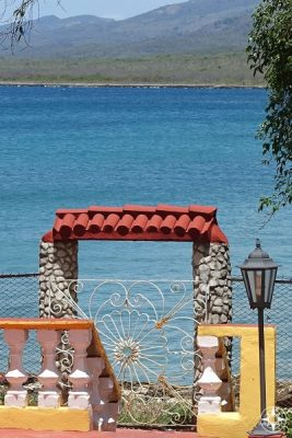Gate to the sea in La Boca, Cuba.
