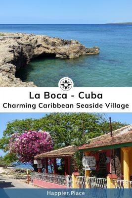 Charming Caribbean Seaside Village La Boca, Cuba.