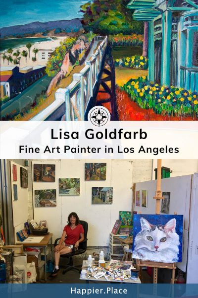 Lisa Goldfarb Fine Art Painter in Los Angeles - Happier Place Profile