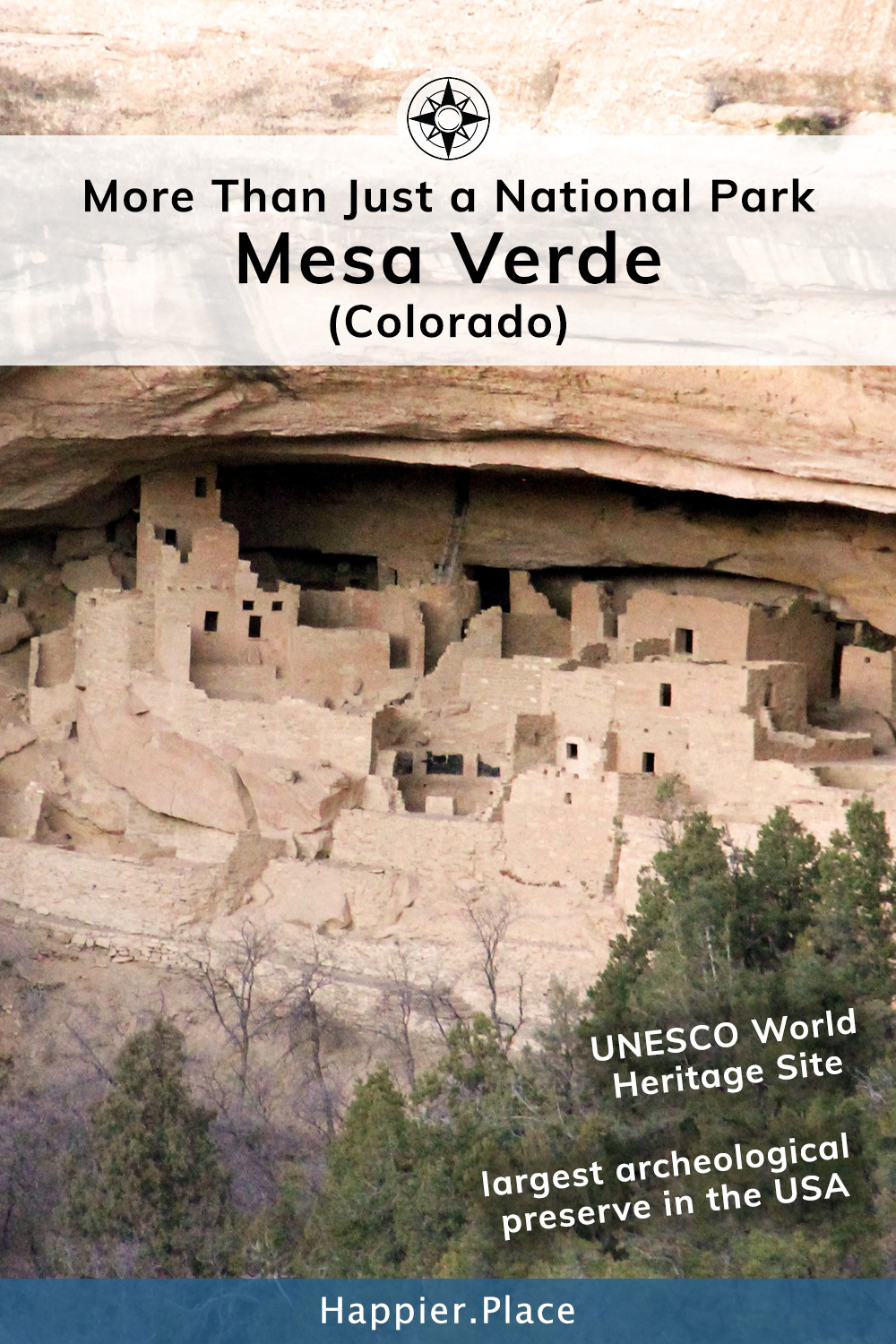 Much More Than Just a National Park: Mesa Verde in Colorado). It's an UNESCO World Heritage site and the  largest archeological site in the USA.