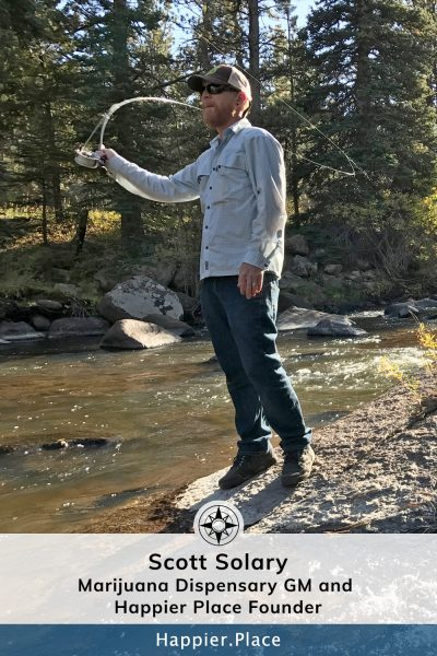 Scott Solary Fly-Fishing Poudre River - Happier Place Founder