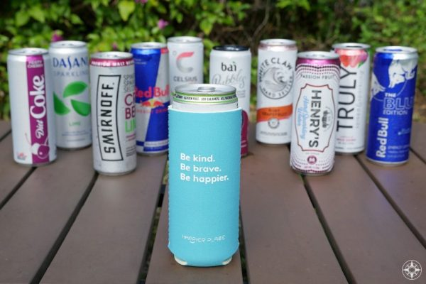 Our Neoprene Slim Can Koozie is a must-have for your 12 oz. slim can drink, e.g. White Claw Hard Seltzer, Henry's Hard Sparkling Water, Smirnoff Spiked Sparkling Seltzer, Truly Hard Seltzer, Bon & Viv Spiked Seltzer, Red Bull Editions, Celsius Fitness Drinks, Bai Bubbles, Dasani Sparkling, and Diet Coke.
