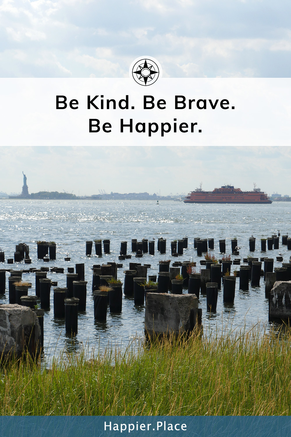 To be kind and brave as we face others and ourselves may just be the secret to a happier, more fair and less violent world. #HappierPlace