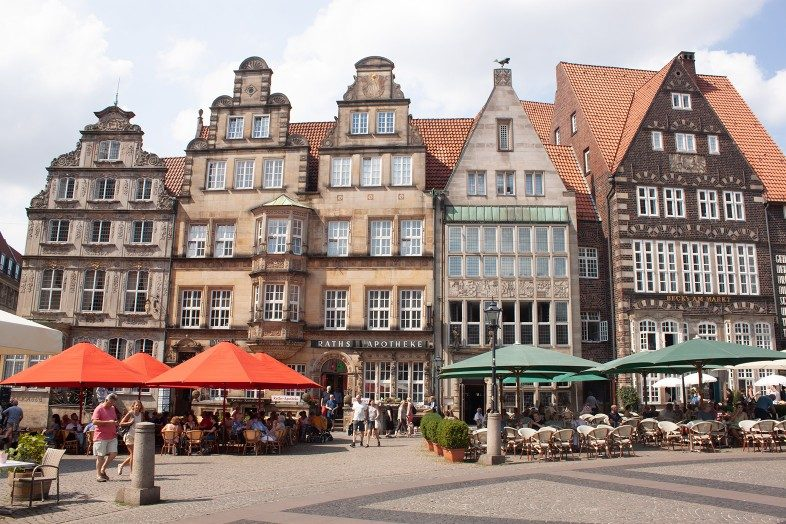 Bremen Germany historic buildings town square