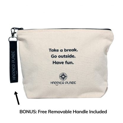 Take A Break Always-Ready Bag with free removable handle - Happier Place