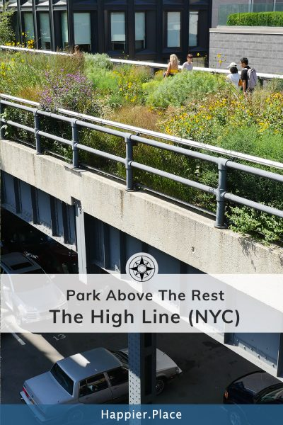 High Line Park above NYC streets