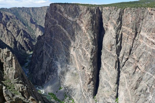 Painted Wall in the Black Canyon of the Gunnison National Park in Colorado - Happier Place