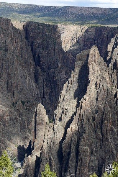 Because the Black Canyon gets so narrow in certain areas, the contrast between light and shadow is more dramatic than in most gorges