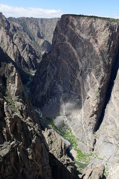 The Painted Wall in the Black Canyon is the tallest vertical cliff wall in Colorado - and the featured image for April in the Happier Place Nature Photography Calendar 2019