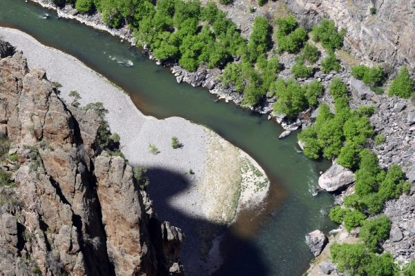 The Gunnison River inside the Black Canyon has been designated Gold Medal Water status for its outstanding trout fishing