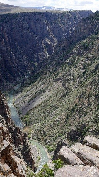 One last look deep into the Black Canyon of the Gunnison National Park.