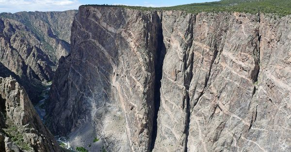 Painted Wall in the Black Canyon of the Gunnison National Park, Colorado