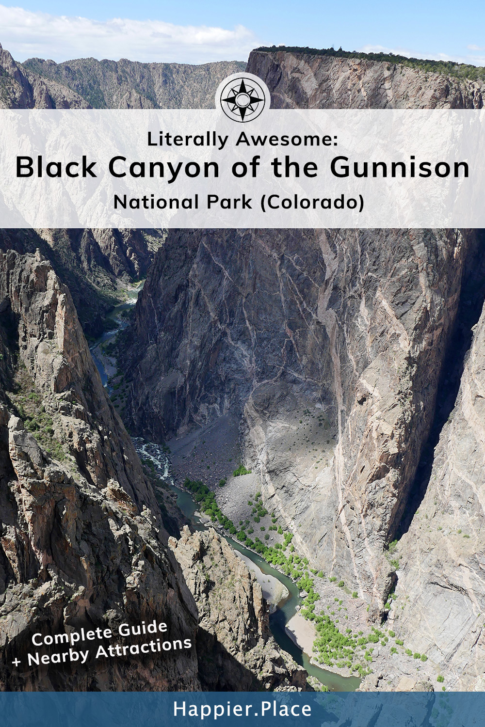 Black Canyon of the Gunnison National Park in Colorado Painted Wall complete guide HappierPlace